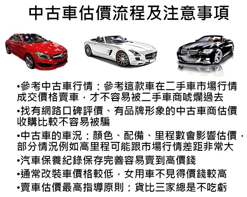 中古車估價流程及注意事項